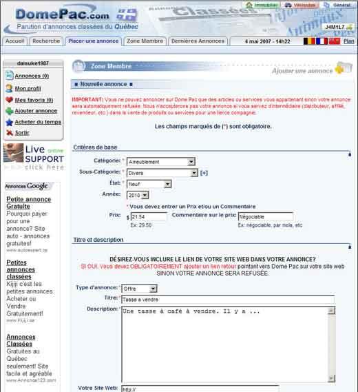 site d'annonces rencontres Aix-en-Provence